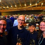 Greg played with a fantastic brass quartet for the National Association of Pastoral Musicians 41st Annual Convention in July of 2018. (left to right; Guy McIntosh [trumpet], Greg Small [trumpet], Christian Hizon [trombone], Amanda Holmes [trombone])