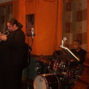 Greg joined the Phil Ravita jazz group in 2011 to perform a show at Germano's Trattoria featuring music from 1959, one of the most consequential years in jazz history. (left to right; Greg Small, Brent Madsen, Nucleo Vega, Phil Ravita)
