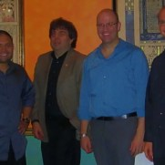 Greg joined Jazz One at Germano's Trattoria in 2012, performing a set of music by contemporary composers. (left to right; Nucleo Vega [drums], Phil Ravita [bass], Tim Powell [sax], Greg Small [piano])