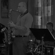 Greg joined Jazz One at Germano's Trattoria in 2012, performing a set of music by contemporary composers. (left to right; Greg Small, Tim Powell, Nucleo Vega, Phil Ravita)