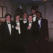 Greg began studying jazz while a student at Shepherd University, and the SU Jazz Combo, pictured here in 2001, provided invaluable experience during these formative years. (left to right; Dan Tait [drums], Euan Edmonds [trombone], Greg Small [piano], Ryan Ellis [bass], Adam Hanlin [trumpet], Aaron Worthy [sax])