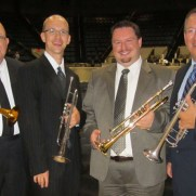 Greg performed in a brass ensemble for the Johns Hopkins School of Advanced International Studies 2013 Commencement. (left to right; Stan Modjesky, Greg Small, Frank Gorecki, Jari Villanueva)