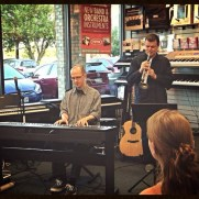 Trumpeter Griff Kazmierczak joined Greg for a set of duets at a Music and Arts open mic event in 2014.