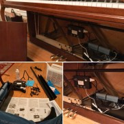 A Dampp-Chaser installation on Greg's home piano should hopefully keep the instrument in tune with reliable consistency.