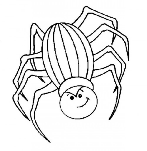 Angry-Spider-Coloring-Page