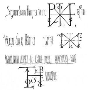 Medieval signatures