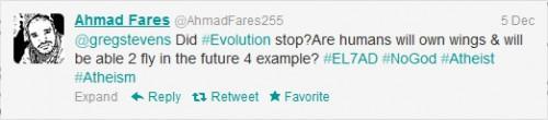Ahmad's Tweet