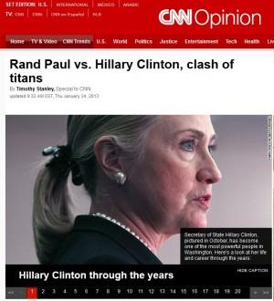 Hilary Clinton and Rand Paul