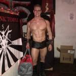 Greg Stevens getting ready to perform in the Satanic ritual in Bisbee, Arizona.