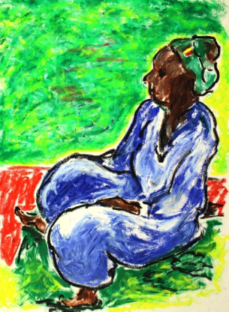 Woman Sitting After Gauguin