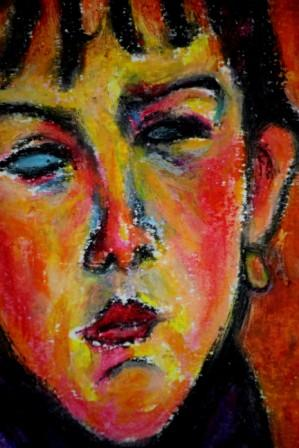 Marie Daughter of the People after Modigliani Close Up