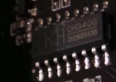 USB-TTL CH340G detail