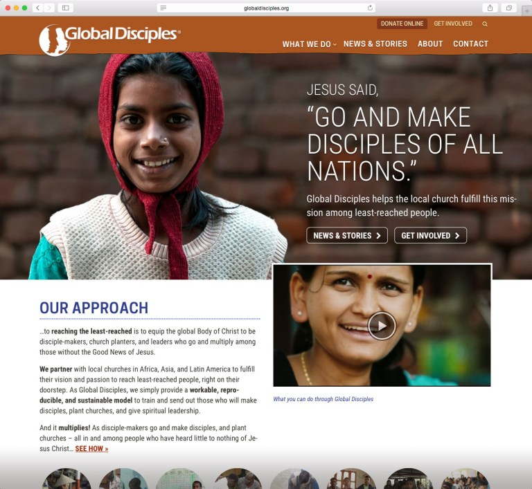 Screenshot from Global Disciples site