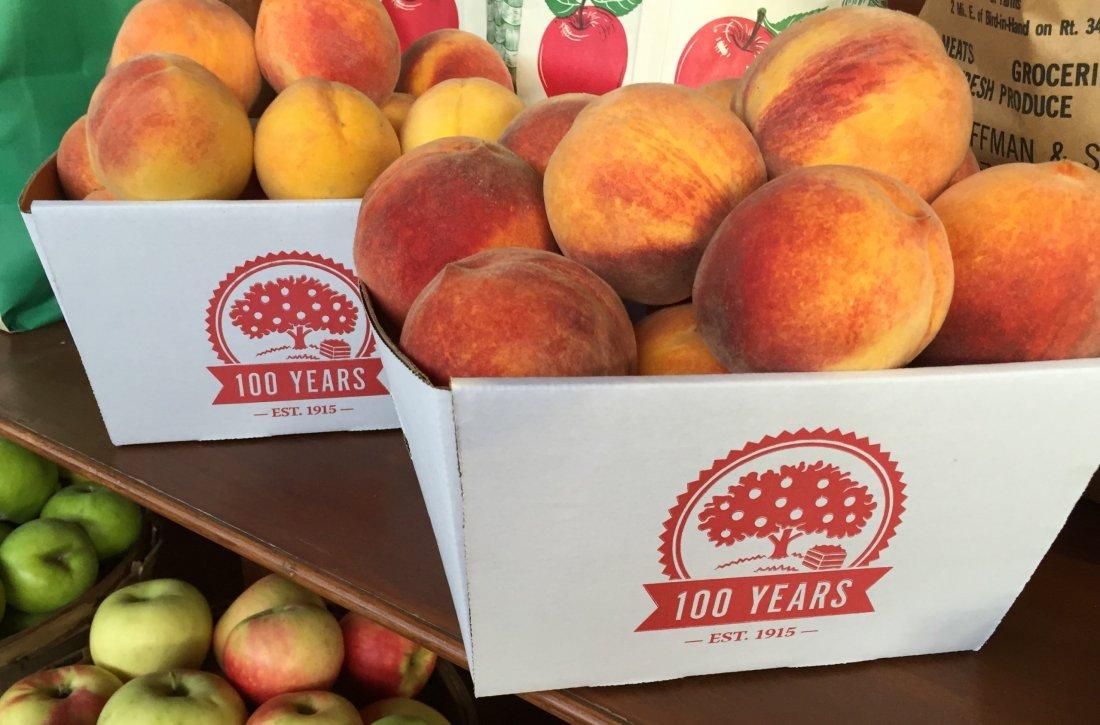 100 year emblem on fruit box