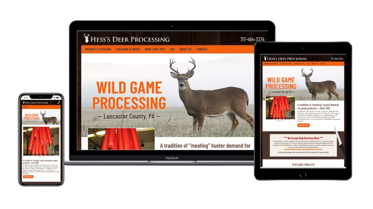 Hess Deer Processing website