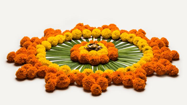 decoration on diwali