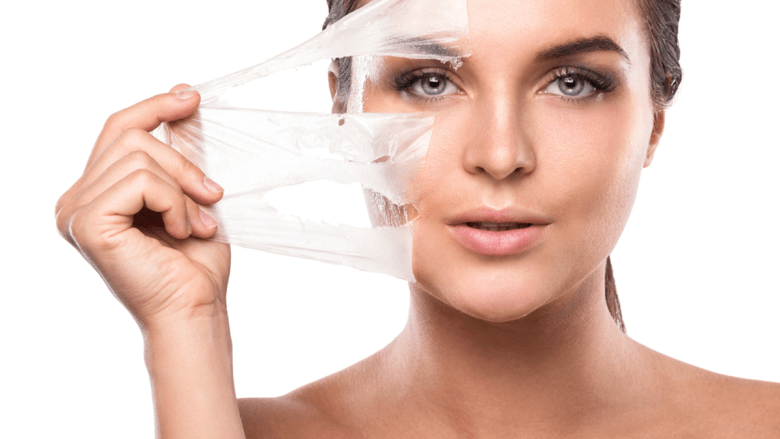 peel of mask for glow on navratri