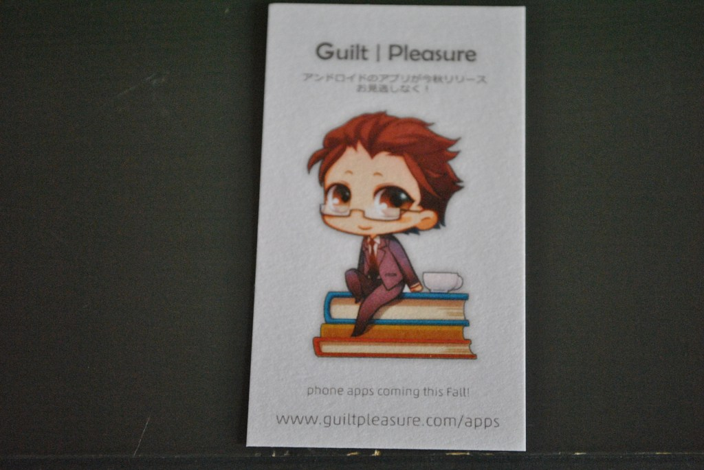 Guilt Pleasure--In These Words SWAG Appcard-Kazuya