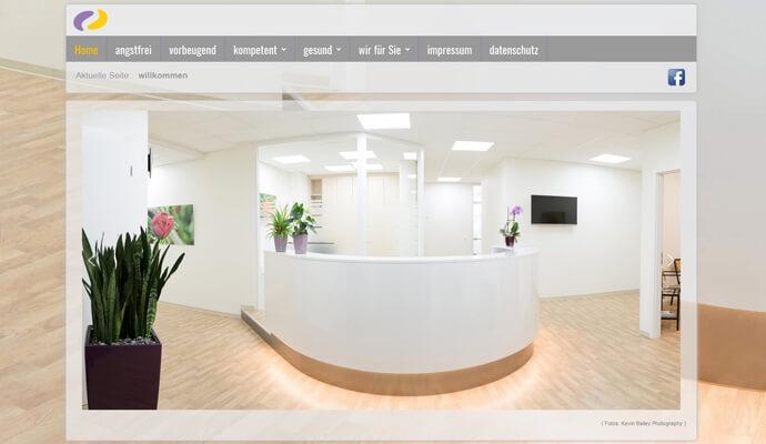 Beispiel Webseite sowie Logo von greme.de - Zahnärzte Weikersheim
