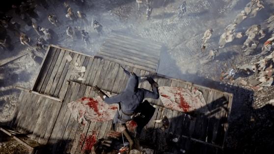 Arno realizando un asesinato aéreo