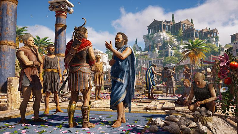 Sócrates hablando con Alexios