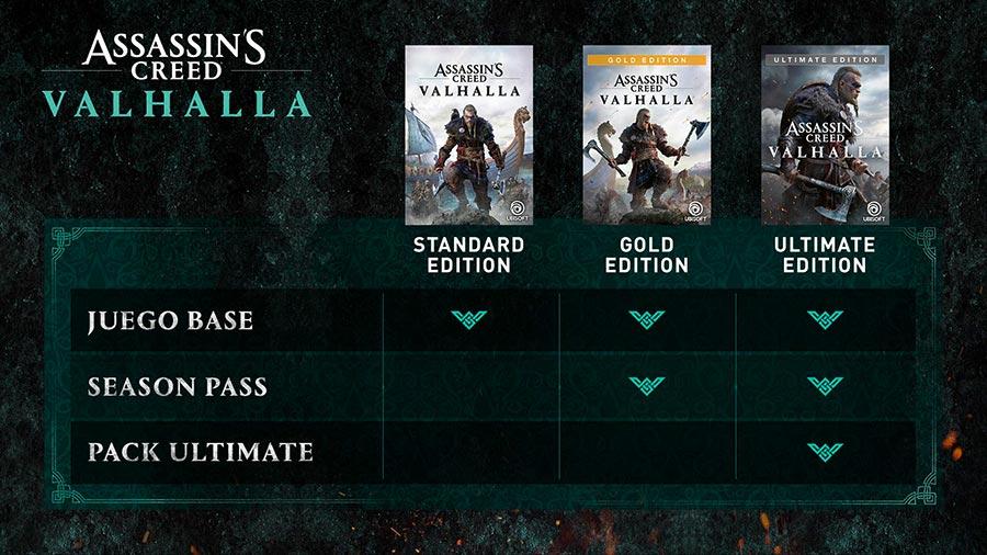 Ediciones especiales de AC Valhalla