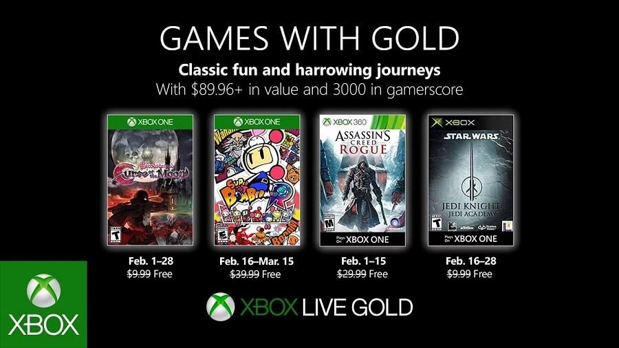 AC Rogue en el Games with Gold de febrero