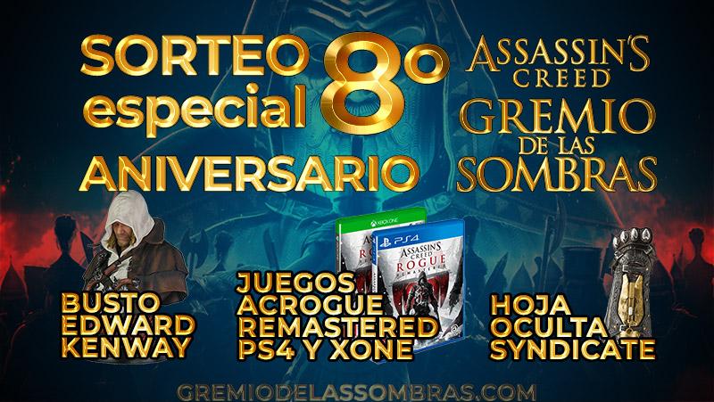 Sorteo especial 8º aniversario de Gremio de las Sombras