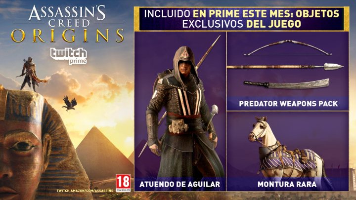 Objetos exclusivos de Twitch Prime