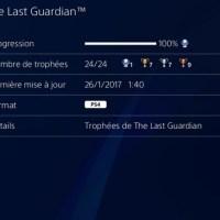 [Trophee]Platine 126:The Last Guardian