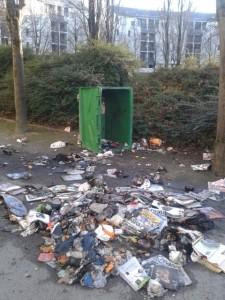 HLMs de Hoche : Container incendié le 23 janvier.