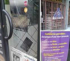 commerces vandalisme