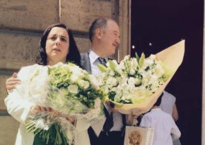 E.Cosse et D.Baupin à leur mariage
