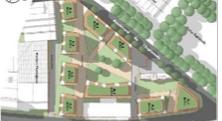le plan de la bétonisation décidée à l'esplanade est vert ! Même les immeubles.
