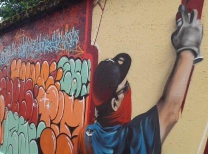 """""""street art fest"""", le """"in"""" 2015, Humbert II Street : VIVE LE VANDALISME"""