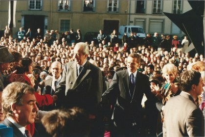 E.Balladur et A.Carignon inaugurant le nouveau Musée