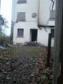 l'arrière de la villa du 106 qui a déjà connu des débuts d'incendie