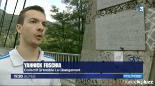 Yannick Foschia sur le pont d'Oxford répondent aux questions de France 3