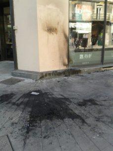 pas de concurrence avec le cours Berriat où une poubelle a été incendiée la même nuit