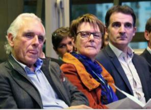 Maryvonne Boileau (Verts/Ades) au centre a lancé les opérations ( ici avec E.Piolle et J.Chiron PS)