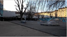 le skatepark du square Silvestri trés utlisé par les jeunes devrait disparaitre