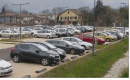 Au Fontanil pour l'arrivée des 120 000 véhicules du nord de Grenoble on va passer cette année de 100 à 200 places de parkings ...