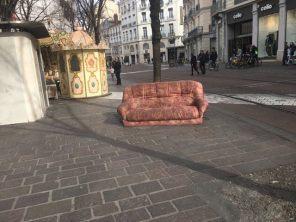 Rue Félix Poulat au coeur de Grenoble