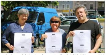 Les représentants de l'Union de Quartier Berriat dont le Prséident Bruno de Lescure attaqués par la municipalité Piolle (Verts/PG) ( photo DL)