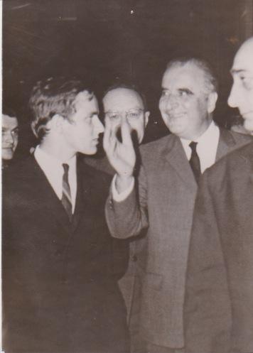 Alain Carignon avec Georges Pompidou à 20 ans