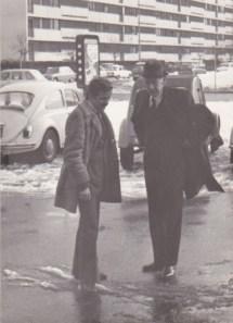 Avec Maurice Couve de Murville son Ministre des Affaires Etrangères et Premier Ministre