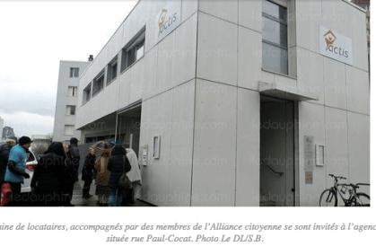 les locataires du Grand Chatelet sont venus protester