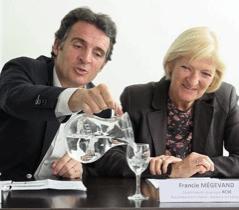 Eric Piolle et Francie Mégevand co-présidents du groupe Rouge/Verts de l'agglomération : leur querelle est publique et ils trahissent tous les deux leurs engagements