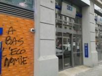 Angle Jaurès/Berriat l'agence bancaire fatiguée des agressions a fermé ses portes: elle n'a pas été remplacée depuis 2 ans
