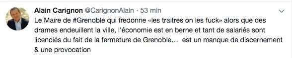 le tweet d'Alain Carignon